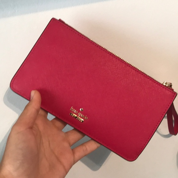 kate spade Handbags - brand new hot pink kate spade wallet